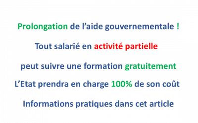 Prolongation du financement à 100 % par l'Etat de formations pour les salariés en chômage partiel